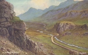 Wales Postcard - Llanberis Pass, Gwynedd - Art Colour   RS21029