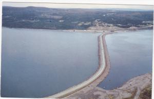 Aerial view, Canso Causeway, CAPE BRETON, Nova Scotia, Canada, 40-60's