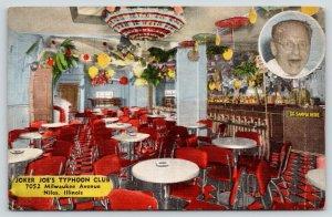 Niles Illinois~Joker Joe's Typhoon Night Club~Paper Umbrellas~Himself~1940 Linen