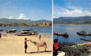Mexico Playa de la Roqueta Base Naval de Icacos Acapulco Gro. Ships Boats Donkey
