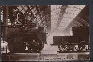 Durham Postcard - No.1 Railway Engine, Darlington Station    RS8326