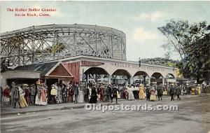 Savin Rock, Connecticut, CT, USA Postcard The Roller Boller Coaster 1911