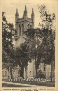 Williams College, Wliliamstown, Ma USA Thompson Memorial Chapel, The Tower Un...