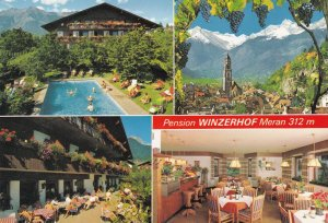 Pensione Winzerhof Merano Italy Hotel Postcard