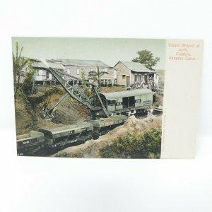 Vintage ~ Steam Shovel at work, Culebra , Panama Canal ~ Postcard