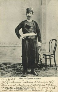 cyprus, Man in Traditional Costume (1909) Postcard