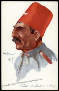France French Turkish Military Chariacture Dupuis Artist Postcard 1914 WWI 64107