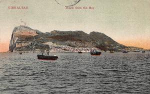 Rock From the Bay, Gibraltar, Early Postcard, Used in 1909