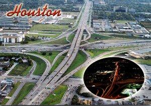 Texas Houston Aerial VIew Of Freeways