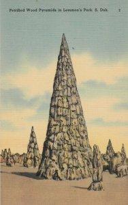 LEMMON'S PARK, South Dakota, 1930-40s; Petrified Wood Pyramids