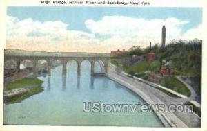 High Bridge, Harlem River New York City NY Unused