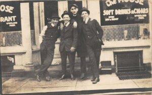 F82/ Occupational RPPC Postcard c1910 The Moose Cigar Shop Men 17