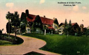 California Pasadena Residence Of Adolph Busch