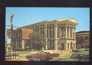 HOPKINSVILLE KENTUCKY CHRISTIAN COUNTY COURTHOUSE OLD CARS VINTAGE POSTCARD