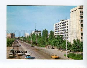271940 Uzbekistan TASHKENT Lenin avenue 1986 year postcard