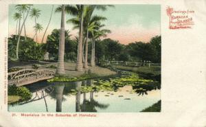 Hawaiian Islands, HONOLULU, Moanalua in the Suburbs (1900) Private Mailing Card
