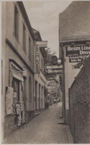 St Saint Goarshausen Rhein Newsagent Schloss Drosselgasse Real Photo Postcard