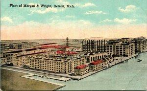 Vtg Postcard Detroit MI Morgan & Wright Plant Unused UNP Kropp