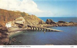 Vintage Postcard CORNWALL Lizard Point and Lifeboat Station H. Barton #A35C