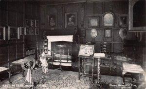 Lady Betty's Room, Knole, Sevenoaks, England, Early Real Photo Postcard, Unused