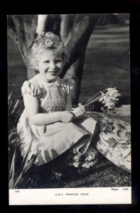 r4293 - HRH. Princess Anne (approx 4yrs) in the Garden - Tuck's postcard