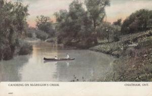 CHATHAM , Ontario , Canada , 1900-10s ; McGregor's Creek ; Version-2