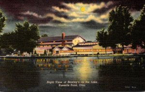 Ohio Indian Lake Russels Point Night VIew Of Beatley's Inn Curteich