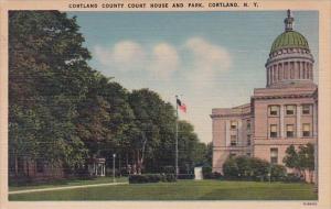 New York Cortland County Ciurt House And Park 1954