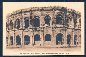 Nimes Arena West Face Gard France unused c1920's