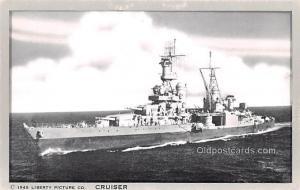 Military Battleship Postcard, Old Vintage Antique Military Ship Post Card Cru...