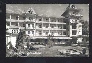 RPPC HOTEL ALPENHOF GARMISCH PARTENKIRCHEN VINTAGE REAL PHOTO POSTCARD