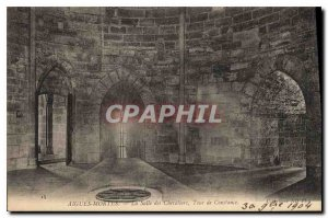 Old Postcard The Hall of Aigues Mortes Constance Tower Knights