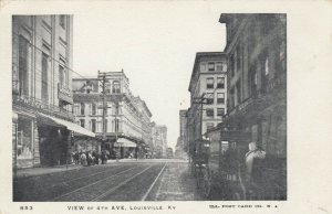LOUISVILLE, Kentucky, 1901-07; View of 4th Avenue