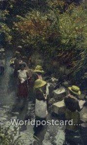 Native Indian Women Washing Clothes Canal Zone Republic of Panama Writing on ...
