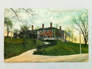 Vintage Postcard 1909 Historical Society Haverhill MA Massachusetts