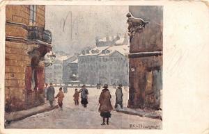 Poland T. Cieslewski Warszawa Widok na Rynek Starego... 1926