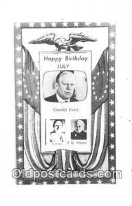 Postcard Happy Birthday Gerald Ford, July