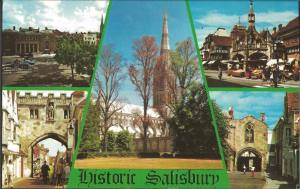 Postcard Multiview c1970's HISTORIC SALISBURY Wiltshire by Photo Precision Ltd