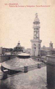 Valencia Valenciana Correos Telegrafos Palacio Old Postcard