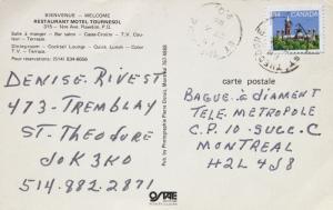 Restaurant Motel Tournesol Rawdon Quebec QC 'Closed' c1985 Vintage Postcard E14