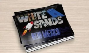 Big Letter Postcard, Set of 6, White Sands New Mexico Large Letter Real Photos