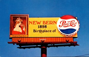 Advertising Pepsi Cola Billboard New Bern North Carolina