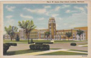 Michigan Lansing J W Sexton High School Curteich