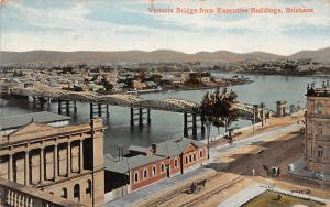 Australia Brisbane, Victoria Bridge from Executive Buildings, Pont, Panorama