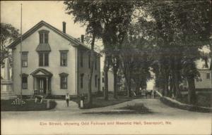 Searsport ME Elm St. Odd Fellows & Masonic c1910 Postcard