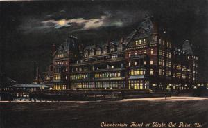 OLD POINT, Virginia; Chamberlain Hotel at night, 00-10s
