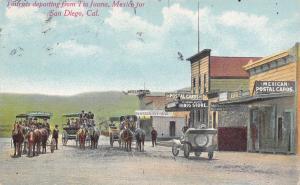 Tijuana MX Hotel Naplina~Postal Cards Shop~Tienda Grande Marquee~Big Store 1910