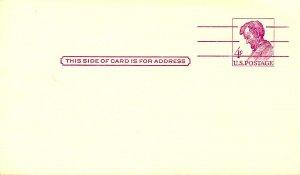 U. S. Postal Card, UX48. Lincoln 4¢