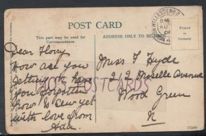 Family History Postcard - Hyde - 212 Moselle Avenue, Wood Green, London RF2500