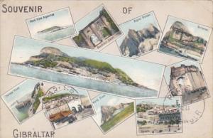Souvenir Of Gibraltar Multi View 1912